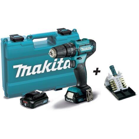Taladro combinado 12Vmax CXT 10 mm HP333DSAE MAKITA PRK00443 + puntas + llavero