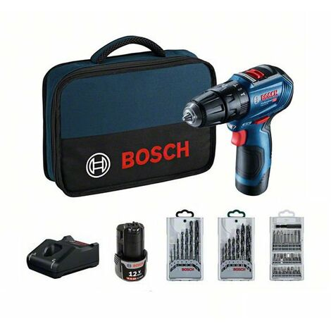 Taladro de impacto con accesorios Bosch GSB 12V-30