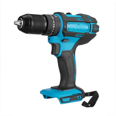 Taladro de martillo recargable 3 en 1 de 18 V Taladro de llave eléctrico inalámbrico Batería no incluida