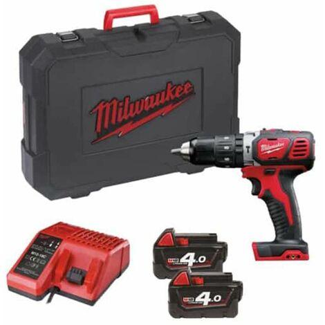 Taladro de percusión Milwaukee M18 BPD-402C - 2 baterías de Li-Ion de 18V y 4.0Ah - 1 cargador 4933443520