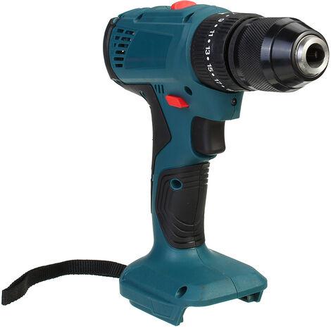 Taladro / destornillador eléctrico inalámbrico de 18 V y 10 mm, destornillador de impacto 3 en 1 para Makita