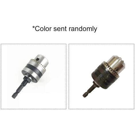 """Taladro electrico Chuck adaptador convertidor de 3/8"""" Drill Chuck con 1/4"""" Quick Change vastago hexagonal Transformar atornillador de impacto y llave para perforar"""