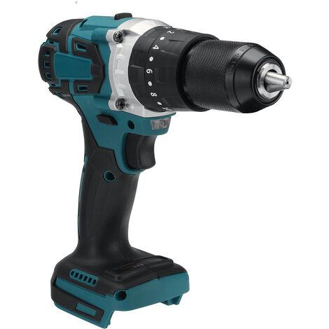Taladro eléctrico inalámbrico 3 en 1 de 13mm y 2 velocidades, destornillador de impacto, Mini herramientas eléctricas inalámbricas para batería Makita