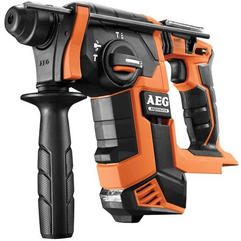 Taladro martillo de 18V sin escobillas AEG SDS Plus sin batería ni cargador BBH18BL-O