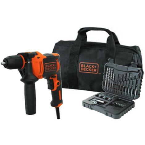 Taladro Percutor 710W + kit 32 piezas + Bolsa de transporte Black+Decker BEH710SA32-QS