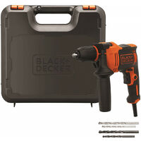 Taladro Percutor BEH710K 710W con maletín Black+Decker