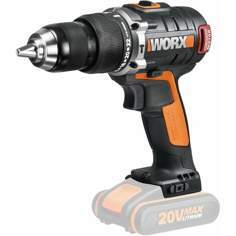 TALADRO PERCUTOR BRUSHLESS (sin escobillas) 20V no bat. WORX
