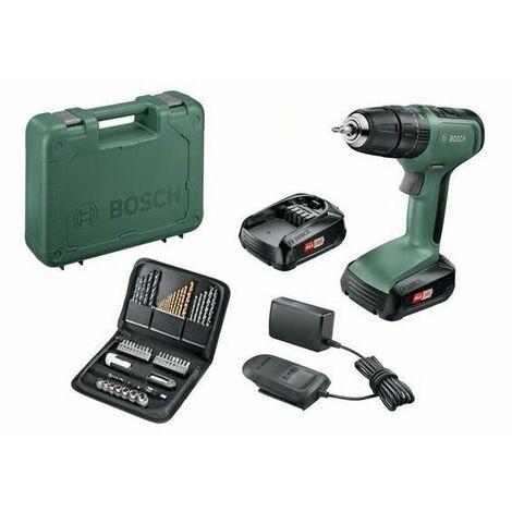 Taladro UniversalImpact 18 Bosch Con 2 baterías y set de 51 accesorios