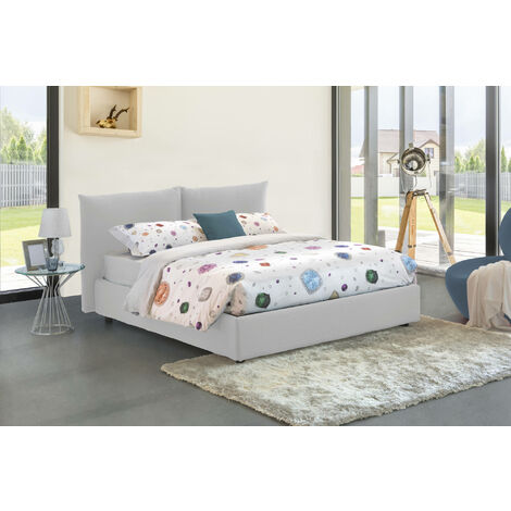 Talamo Italia Double bed with removable container Pink Container Made in Italy