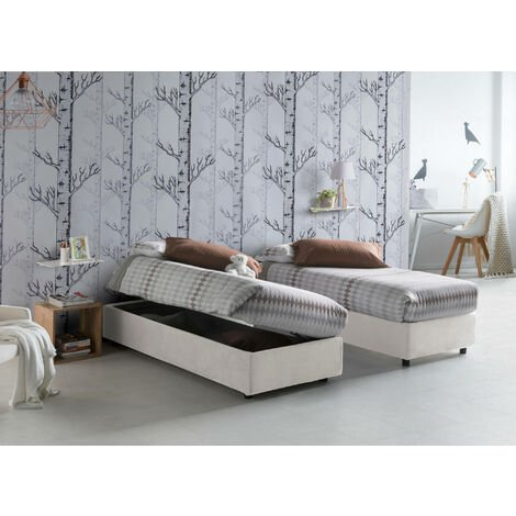 Talamo Italia Double bed with removable container Silvia Bed Base container Made in Italy