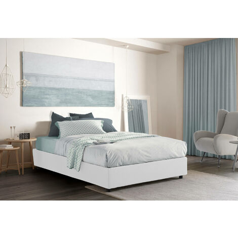 Talamo Italia Double bed with removable container Silvia Bed Base container Made in Italy With Mattress