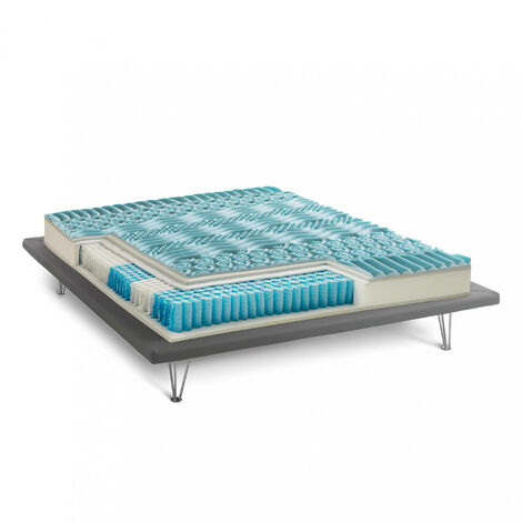 Talamo Italia King Mattress, Memory Foam / Gel, H 27 cm