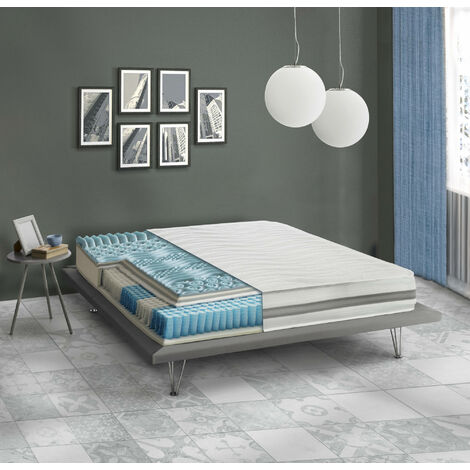 Talamo Italia TORTONA Mattress, Pocket springs and Memory 5 cm - h 25 cm