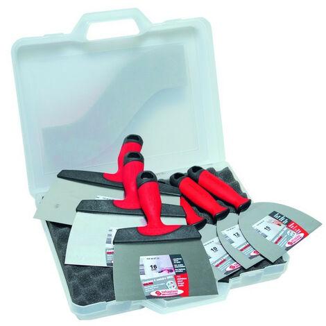 """main image of """"Taliaplast - Lot de 6 couteaux de plaquiste en inox 10/12/15/16/21/24 cm - 440429"""""""