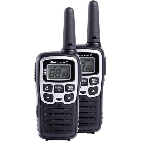 Talkie-walkie PMR Midland XT50 C1178 jeu de 2 1 pc(s)