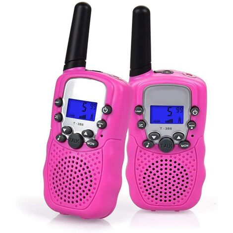 Talkie-walkie Set, Radio Talkie Walkie professionnel pour enfants, portée 1-3KM 8 canaux.