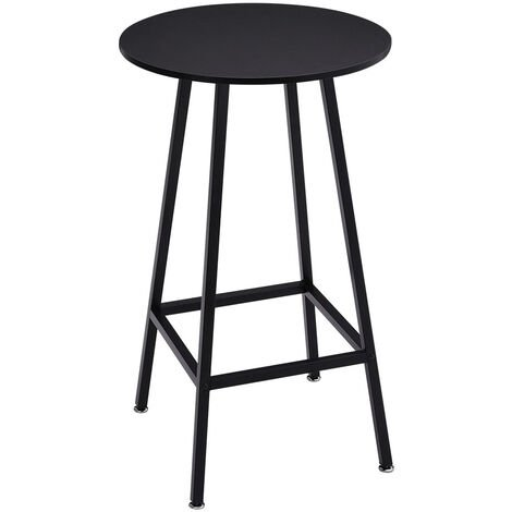 Tall Bar Table Breakfast Kitchen Dining Room Bistro Patio Modern Furniture Round