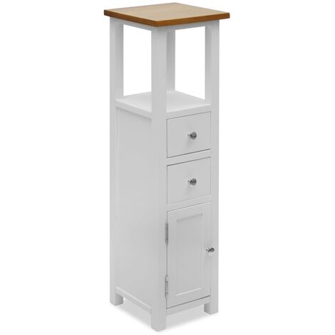 Tall Chest of Drawers 26x26x94 cm Solid Oak Wood