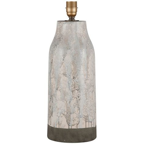 Tall Marble Effect Stoneware Table Lamp