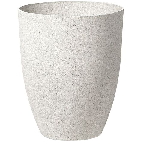"""main image of """"Tall Plant Pot Gardening Indoor Outdoor Flower Planter 43x52cm Off-White Croton"""""""