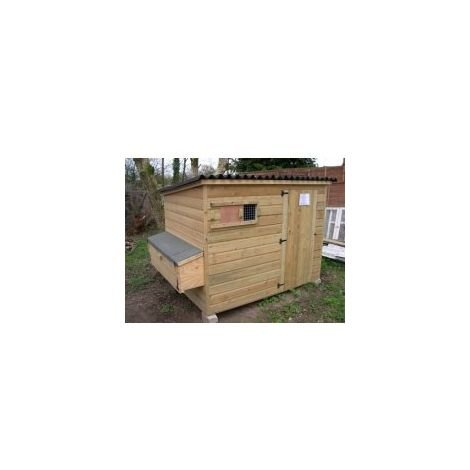 Tall Poultry Shed with Nestboxes