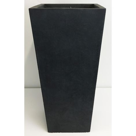 Tall Tapered Contemporary Faux Lead Light Concrete Planter H89 L43 W43 cm