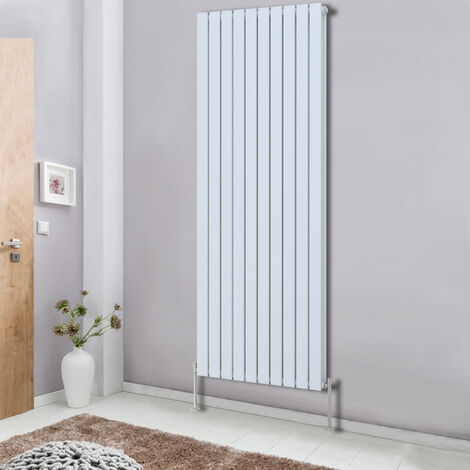 Tall Vertical Column Designer Radiator Bathroom Heater Flat Double Panel Central Heating White 1800x680