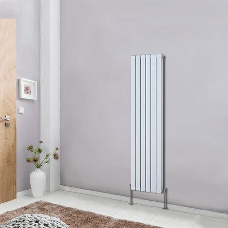 Tall Vertical Column Designer Radiator White 1600x408 Bathroom Heater Flat Double Panel Central Heating