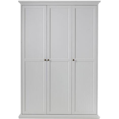 Tall White Bedroom Wardrobe Three Doors