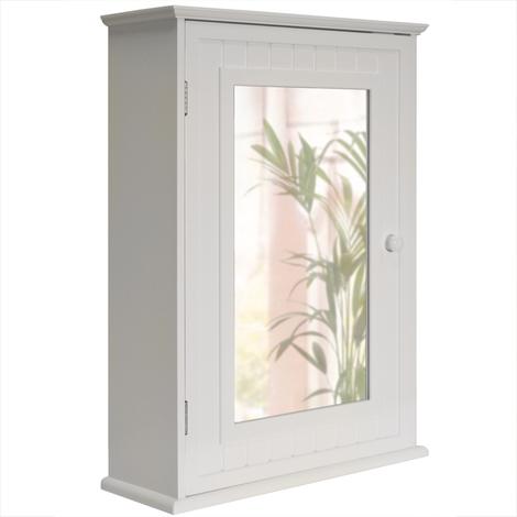 TALLULA - Mirror Door Bathroom Wall Storage Cabinet - White