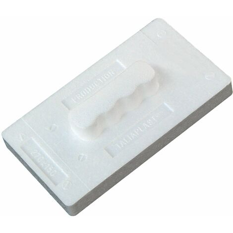 Taloche en polystyrène expansé 27 x 15 cm rectangle blanc SOFOP TALIAPLAST-300901 - -