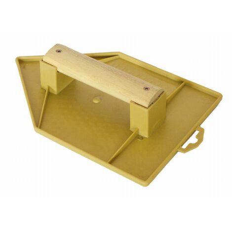 Taloche jaune pointue 18x27mm plastique poignée bois MOB MONDELIN - 311132