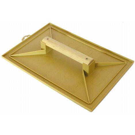 Taloche jaune rectangle 18x27mm plastique poignée bois MOB MONDELIN - 311120