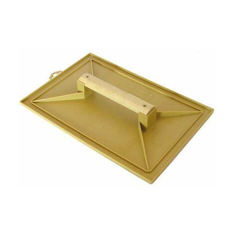 Taloche jaune rectangle 28x41mm plastique poignée bois MOB MONDELIN - 311100