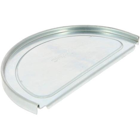 Talon symétrique à gorge pour gouttière zinc 1/2 ronde 25