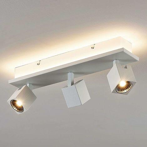 Taly LED ceiling lamp, 3 white spotlights
