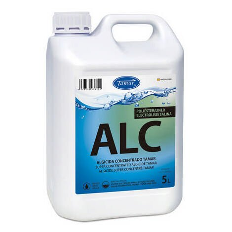 Tamar Algicida Concentrado, Especial Piscinas de Poliester/Liner y Electrólisis Salina, 5 litros