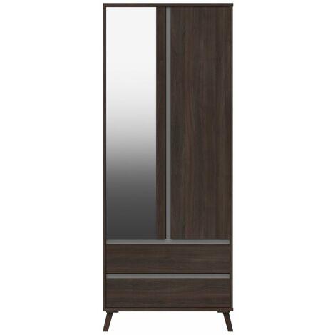 Tamarine Two Door Two Draw Mirror Wardrobe