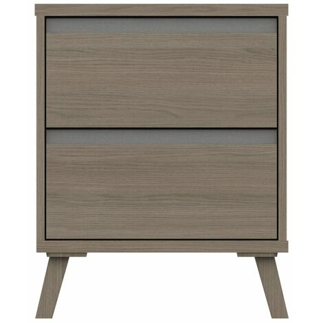 Tamarine Two Draw Bedside Table