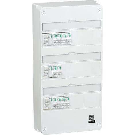 SCHNEIDER ELECTRIC TABLEAU EQUIPE ET PRECABLE 3 RANGEES 39 MODULES - R9H313SP06N