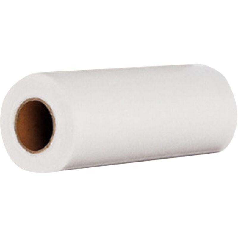 Tampon a recurer jetable, fibre fine, essuie-glace a point d'arret, 50 feuilles / rouleau, blanc