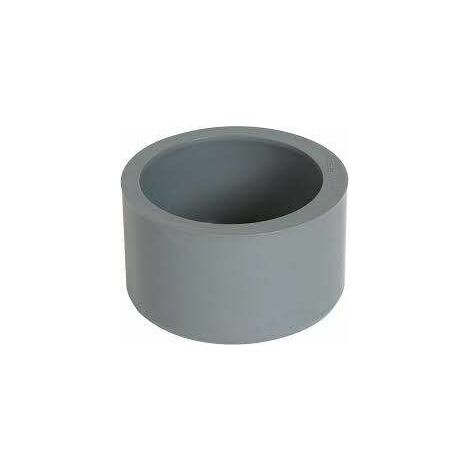 Tampon de réduction incorporée PVC mâle 125mm, femelle 110mm.