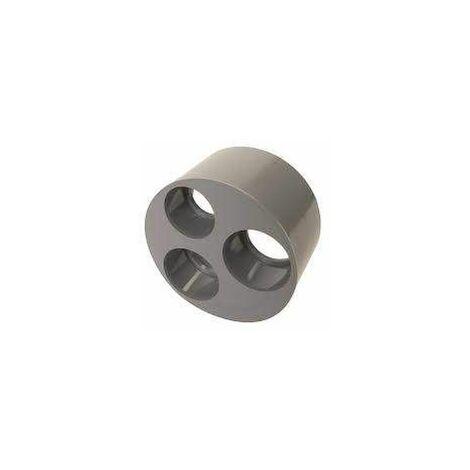Tampon de réduction incorporée PVC mâle 125mm, femelle 50/40/40mm.