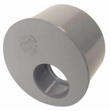 Tampon de réduction incorporée PVC mâle 125mm, femelle 50mm.