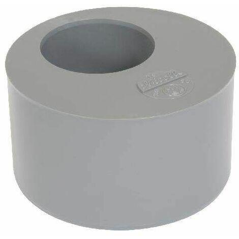 Tampon de réduction incorporée PVC mâle 125mm, femelle 75mm.