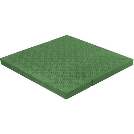Tampon de sol léger PVC anti-choc 234x234mm - 32,00KN - Vert