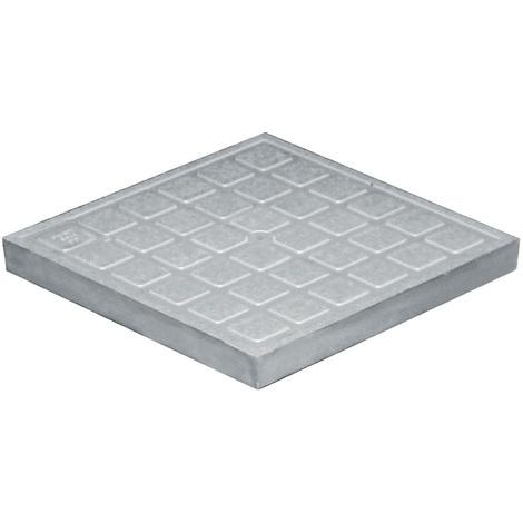 Tampon de sol polypropylène 383x383mm - Gris