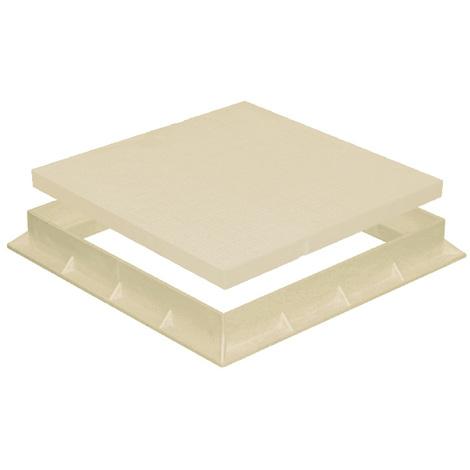 Tampon de sol PVC léger avec cadre anti-choc 400x400mm - 30,00KN - Sable