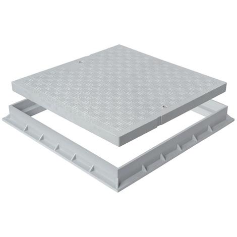 Tampon de sol PVC léger avec cadre anti-choc - Gris