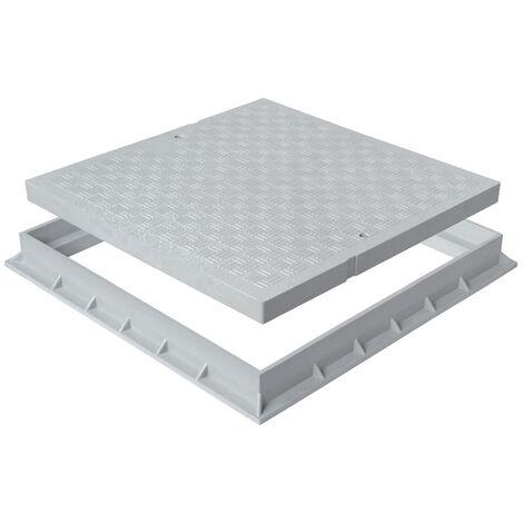 Tampon de sol PVC renforcé avec cadre anti-choc - Gris
